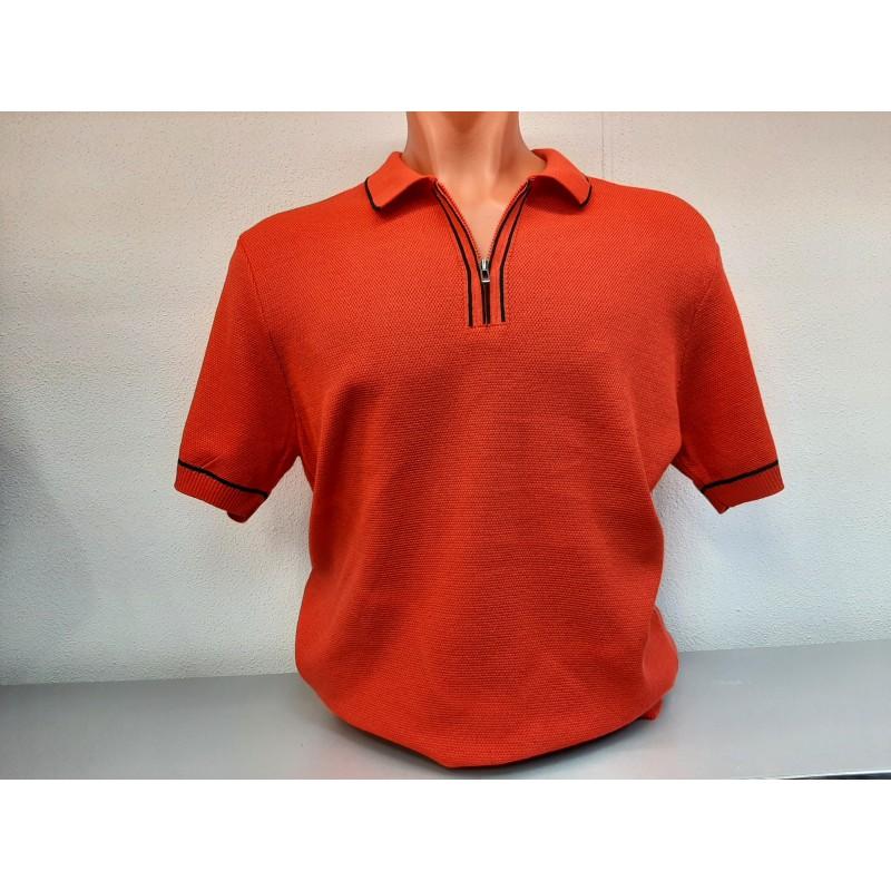 Мужская брендовая рубашка AVVA  A11Y5006-Kirmizi- Polo Yaka